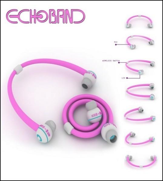 Часы-плеер Echo: беспроводные наушники