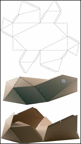 Промышленный дизайн: Приют для бездомных людей: дом-оригами Cocoon.