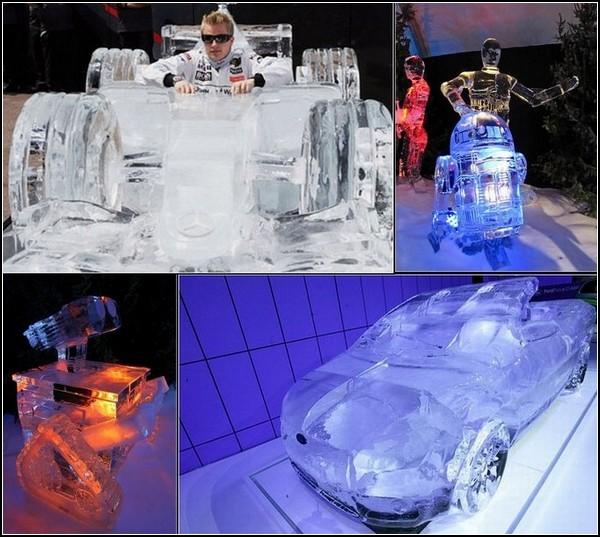 Лед и машины. Обзор холодненьких техноскульптур