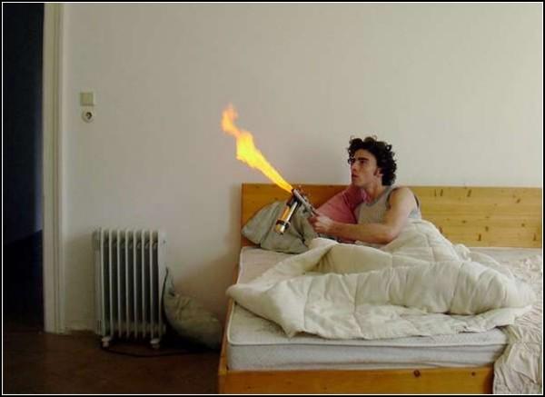 Борьба с насекомыми огнем