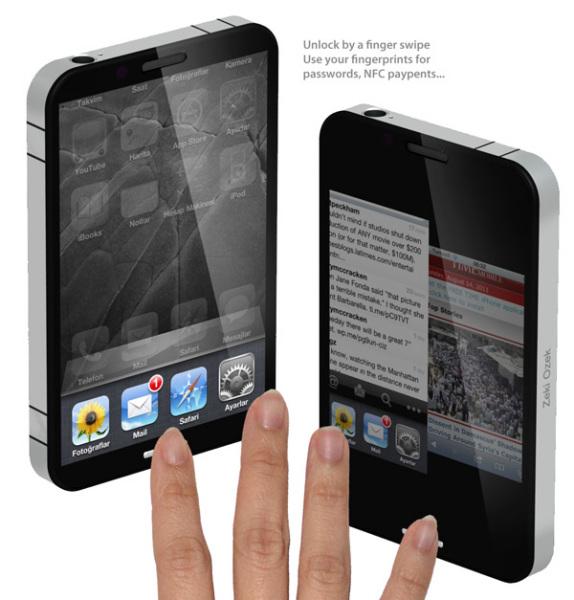 iPhone будущего со сканером отпечатков