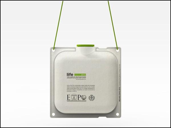Пакеты из бумаги с водой: концепт Life