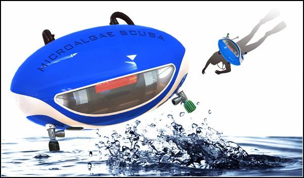 Дыхание под водой с помощью микроводорослей: проект акваланга
