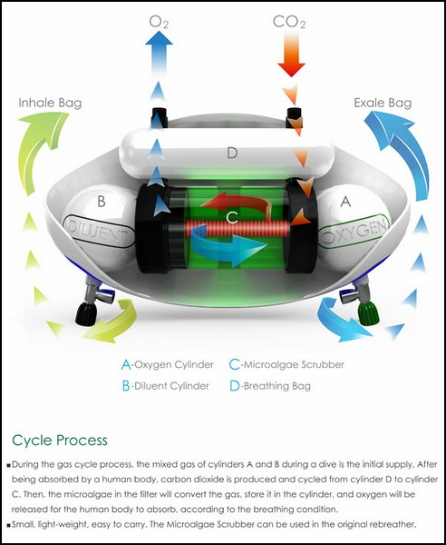 Схема устройства для дыхания под водой