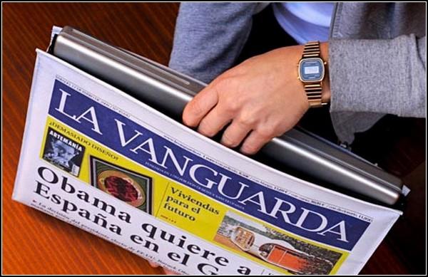 Гаджеты от воров: ноутбук, который стал газетой
