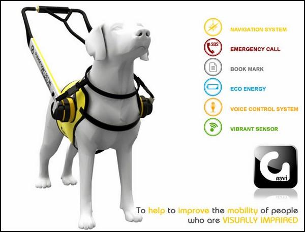 Концепт куртки для собаки-поводыря