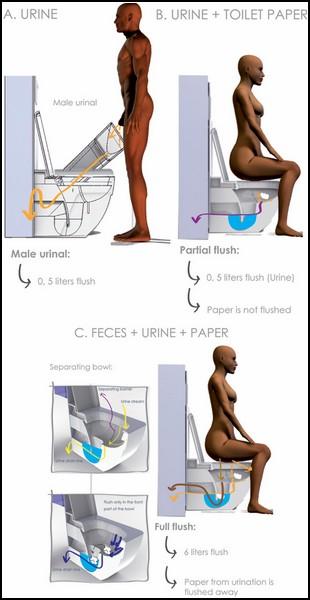 Проект туалета Natura