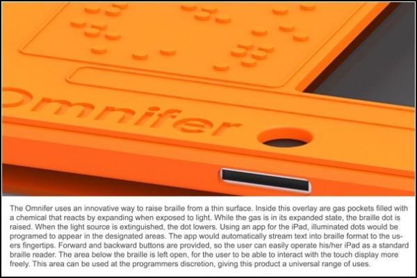 Печать вслепую на iPad: концепт Omnifer