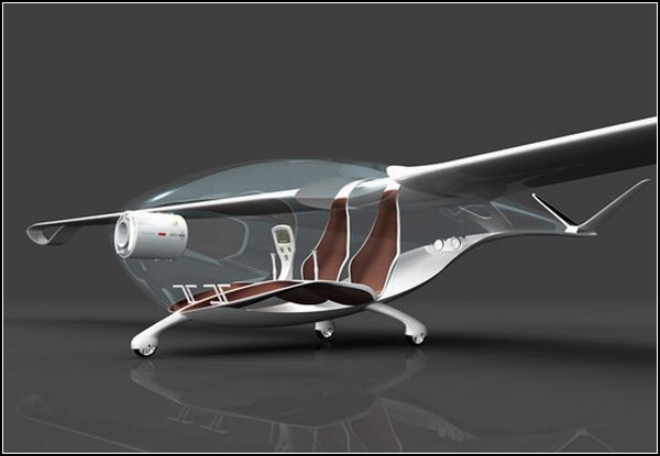 Экологичный частный самолет Oriens Glider