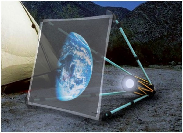 Мультимедийный проектор под звездным небом: идеальный туристический телевизор