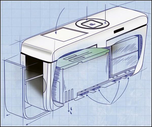 Портативный принтер Printbrush: принципиальная схема