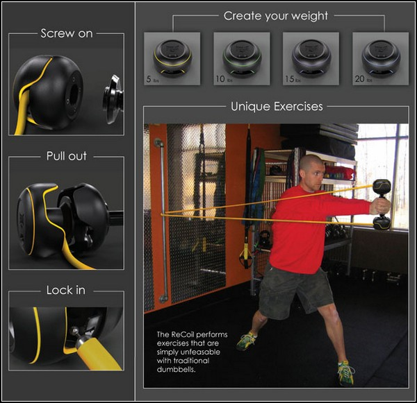 Вес гантели - на ваше усмотрение! ReCoil Workout System