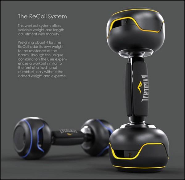 Гантели с изменяемым *весом* ReCoil Workout System