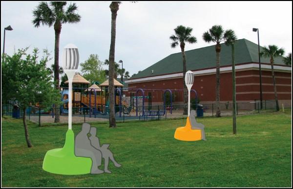 Вертикальный ветряк для парков будущего