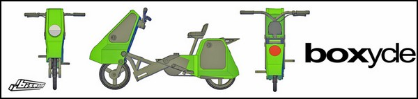 Квадрат скорости: складной скутер Boxycle