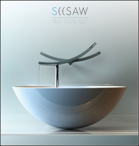 Экономия воды при мытье рук: кран-качели Seesaw