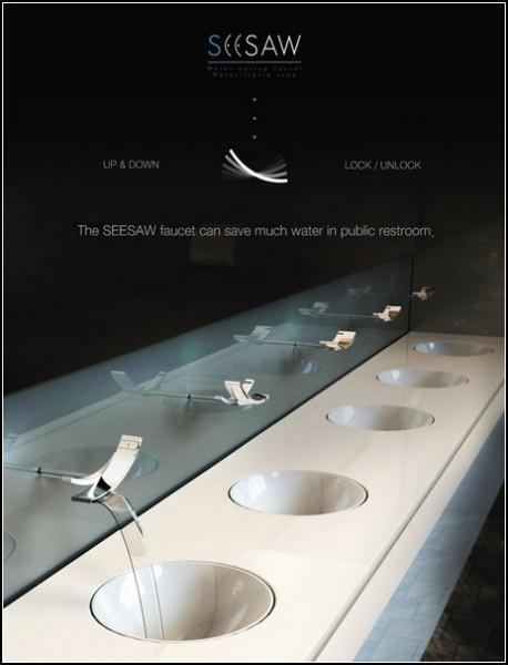 Экономия воды в общественных туалетах