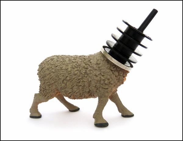 Винные пробки с животными: овечка