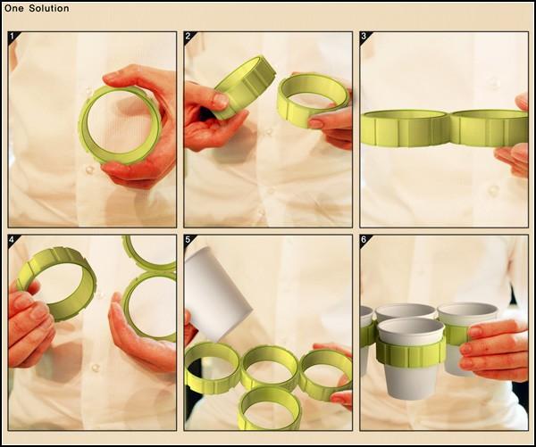 Гаджет для одноразовых стаканчиков Smart Holder