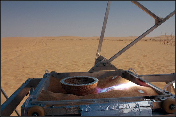 Стекольное производство посреди пустыни: солнечный гончарный круг