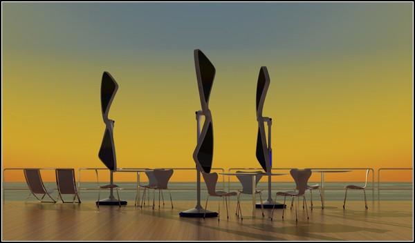 Зонтик от солнца SOLARIS в сложенном виде