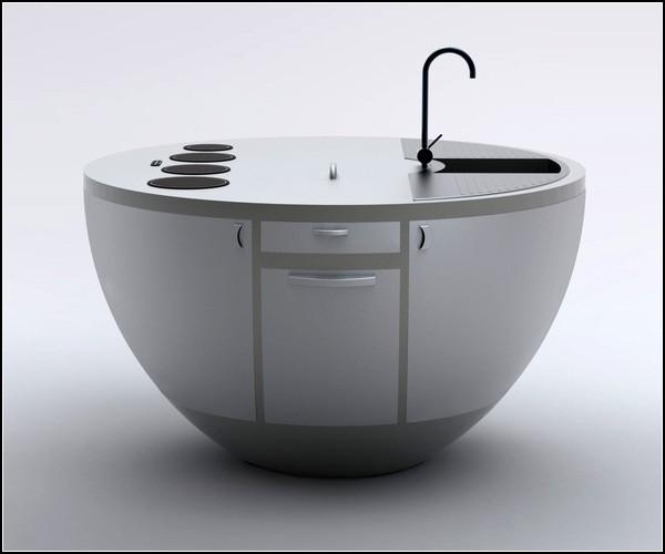 Дизайн круглой кухни