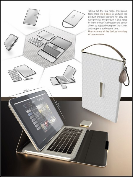Концепт ноутбука с автономными частями