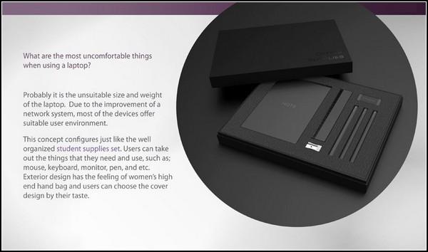 Концепт ноутбука из автономных частей Split