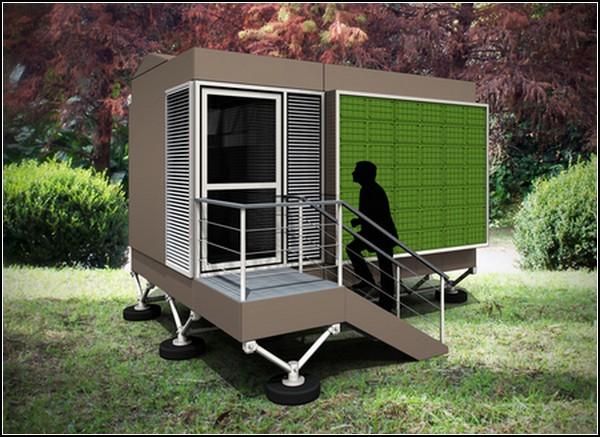 Временное жилье с солнечными батареями