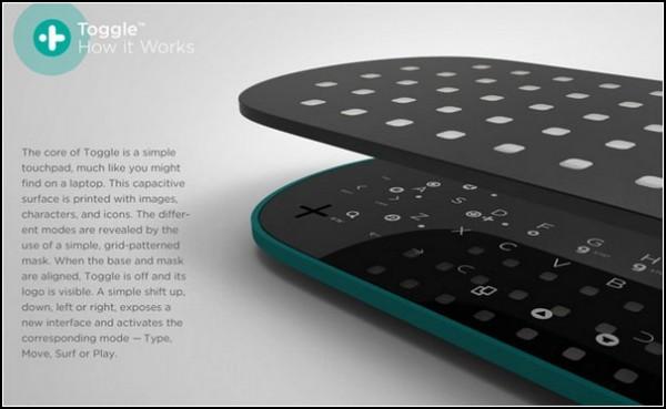 Пульт от телевизора Toggle: между сенсором и кнопками