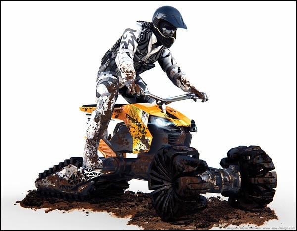 Экстремальный грязецикл - неплохое решение для русских дорог