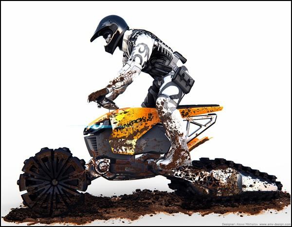 Русский грязевой мотоцикл с электромотором