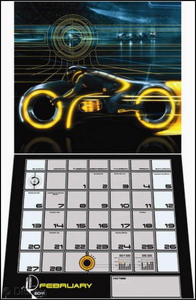 Наследие TRON: календарик