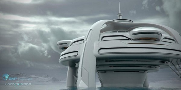 Большая яхта будущего