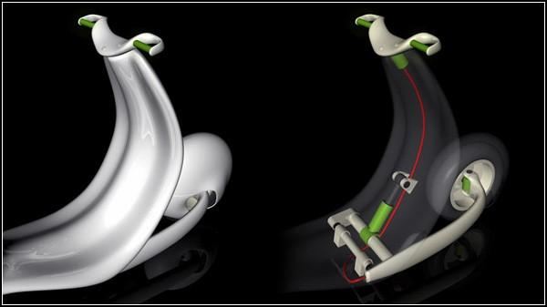 Скутер Vespa в новом обличье: футуристический редизайн