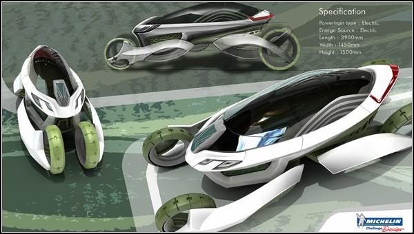 Система очистки воздуха в городах: экомобиль будущего Vieria