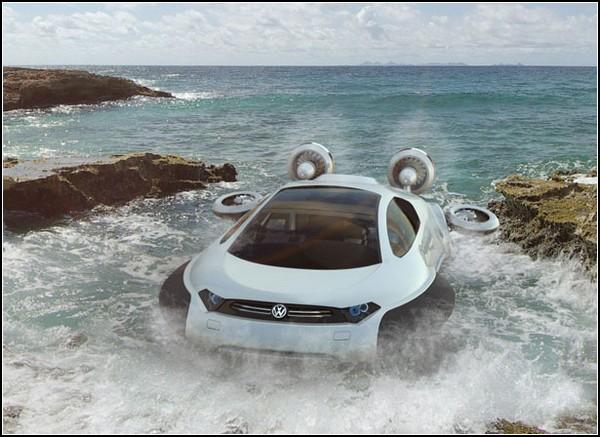 Автомобиль-катер на воздушной подушке: проект Volkswagen Aqua