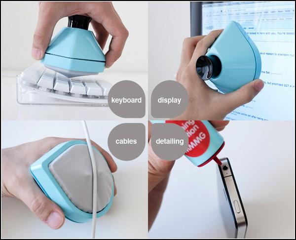 Гаджет-набор для чистки клавиатуры, монитора и проводов