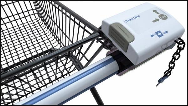 Гигиена рук в супермаркете: гаджет-чистюля для магазинной тележки