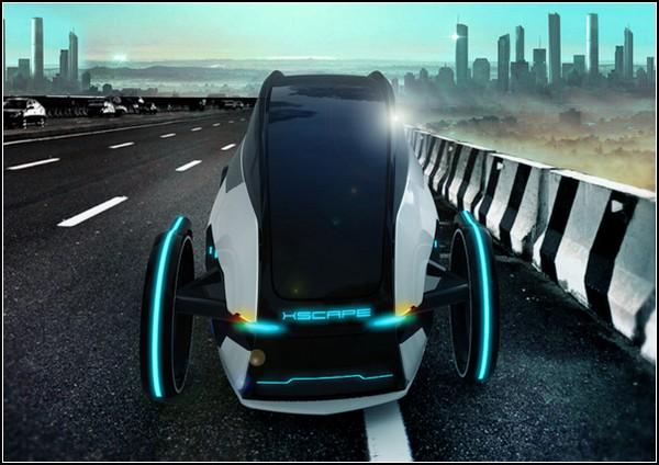 Концепт-кар XSCAPE: одноместный автомобиль будущего