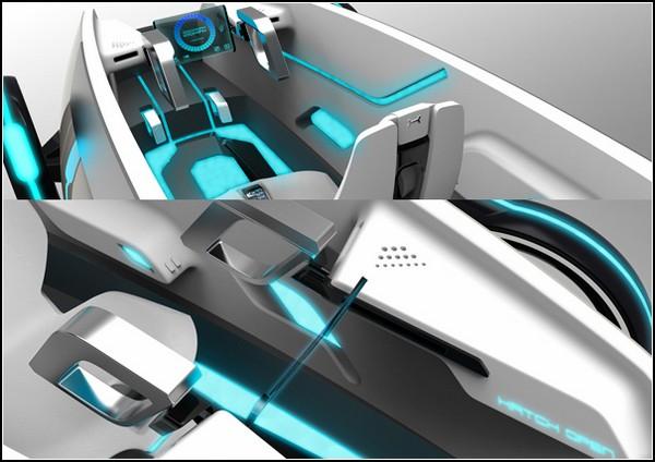 Концепт-кар XSCAPE: вид изнутри