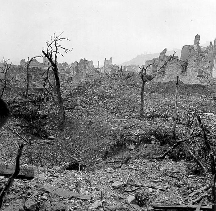 Руины Кассино после битвы