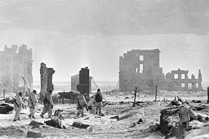Центр Сталинграда, 2 февраля 1943 года