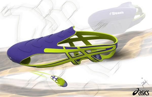 Специальные кроссовки для пляжного футбола  4beach от Asics