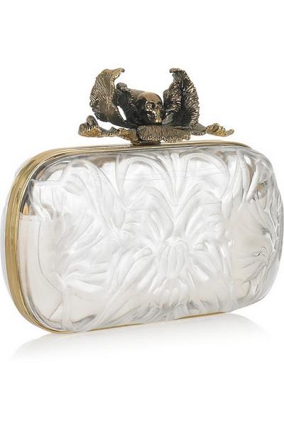 Новый экстравагантный клатч Iris Plexiglas box от Alexander McQueen