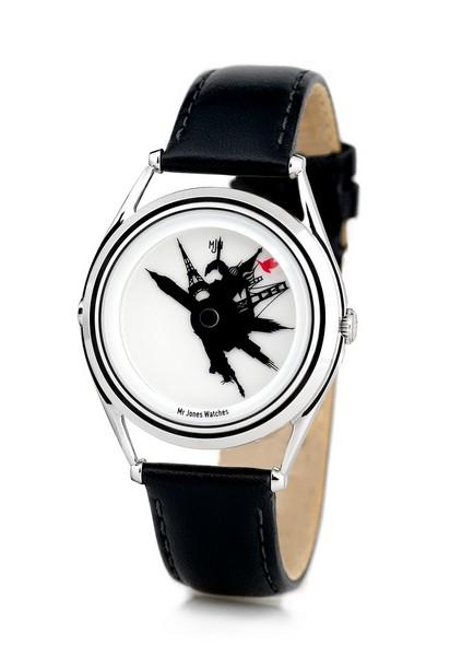 Дизайнерские часы, показывающие время для восьми стран одновременно и оригинально
