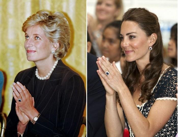 Принцесса Диана и Кейт Миддлтон: найдите 10 отличий.