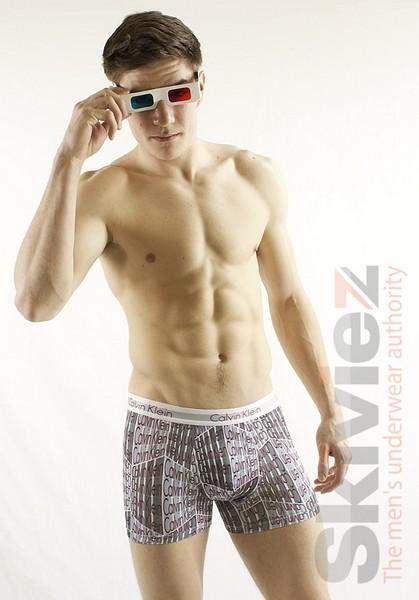 «Трёхмерное» мужское бельё от Calvin Klein: «Logo Cube»