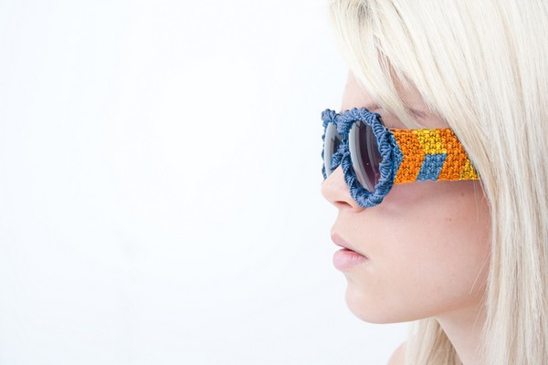 Очки с плетёнными дужками от Клода Боссетта (Claude Bossett)