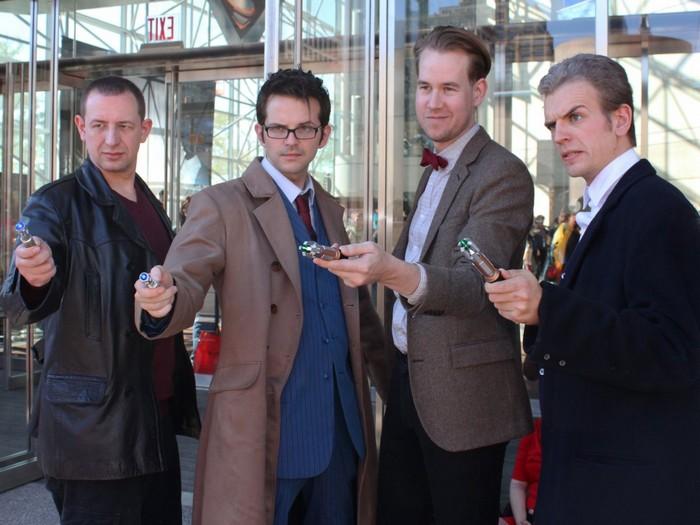 Разные «реинкарнации» Доктора Кто собрались вместе на Comic Con